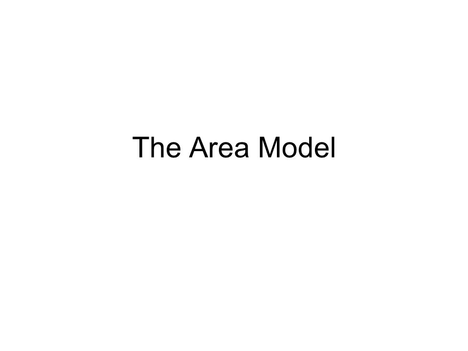 The Area Model
