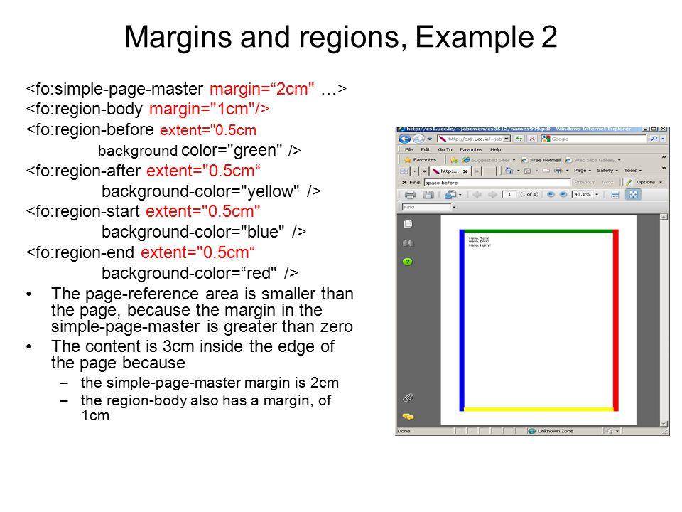 Margins and regions, Example 2