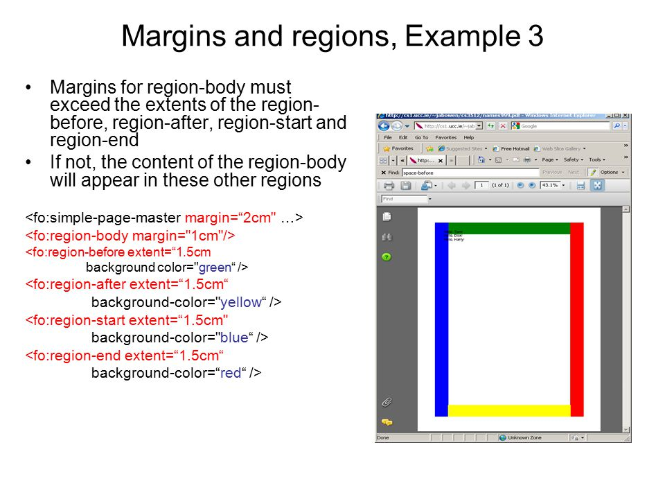 Margins and regions, Example 3