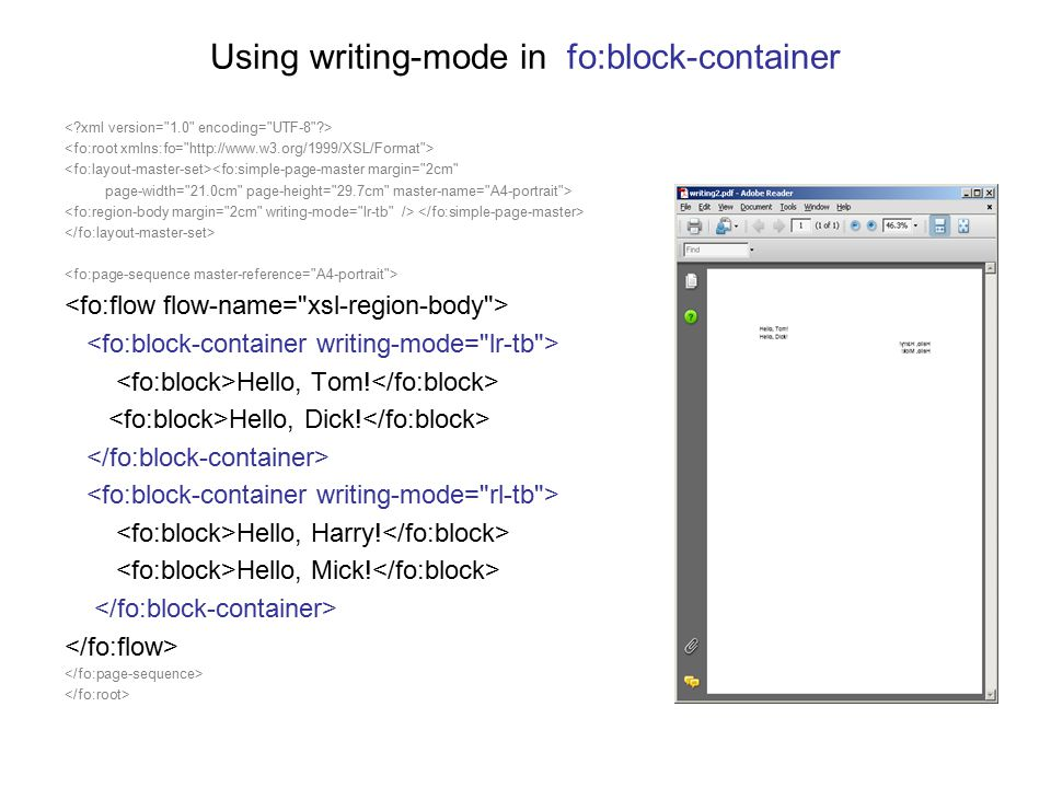 Using writing-mode in fo:block-container