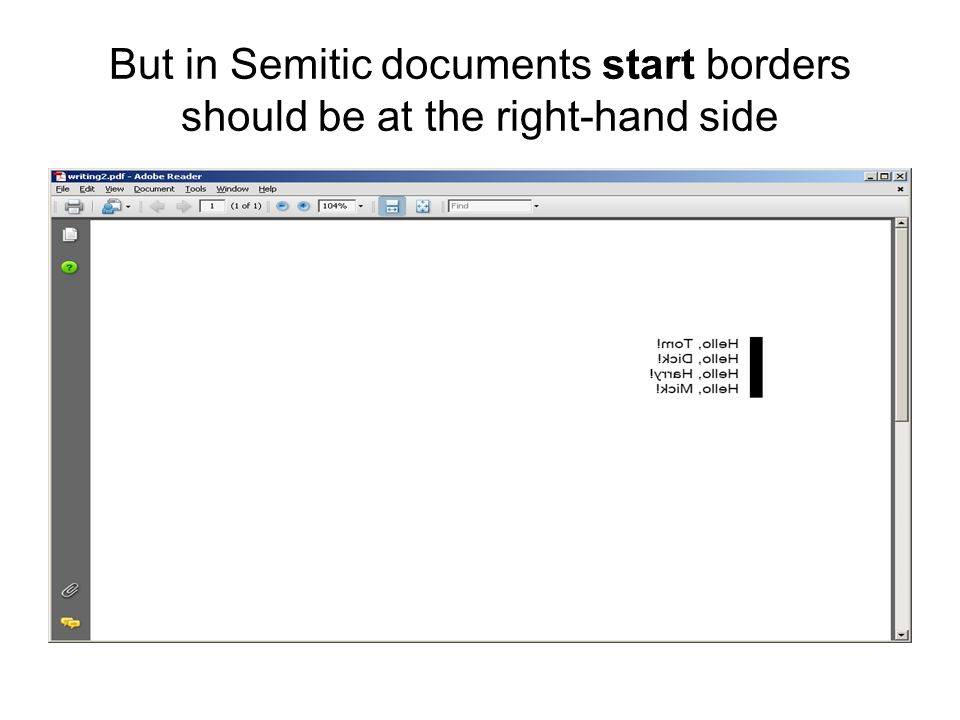 But in Semitic documents start borders should be at the right-hand side