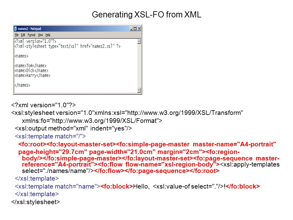 Xsl formatting objects ppt download for Xsl named template