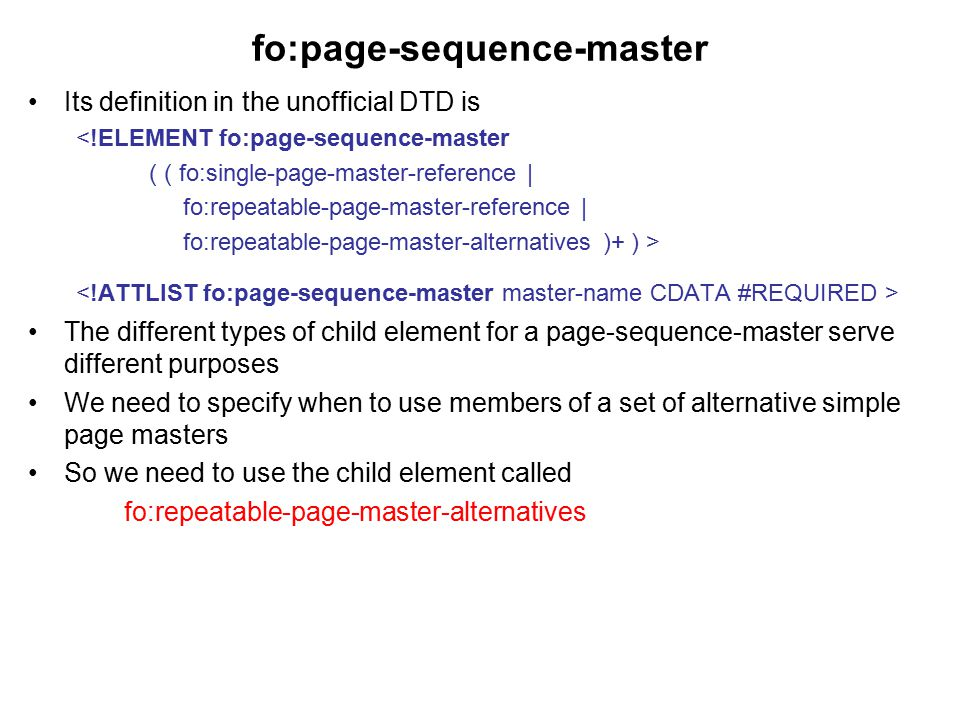 fo:page-sequence-master