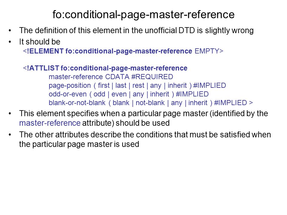 fo:conditional-page-master-reference