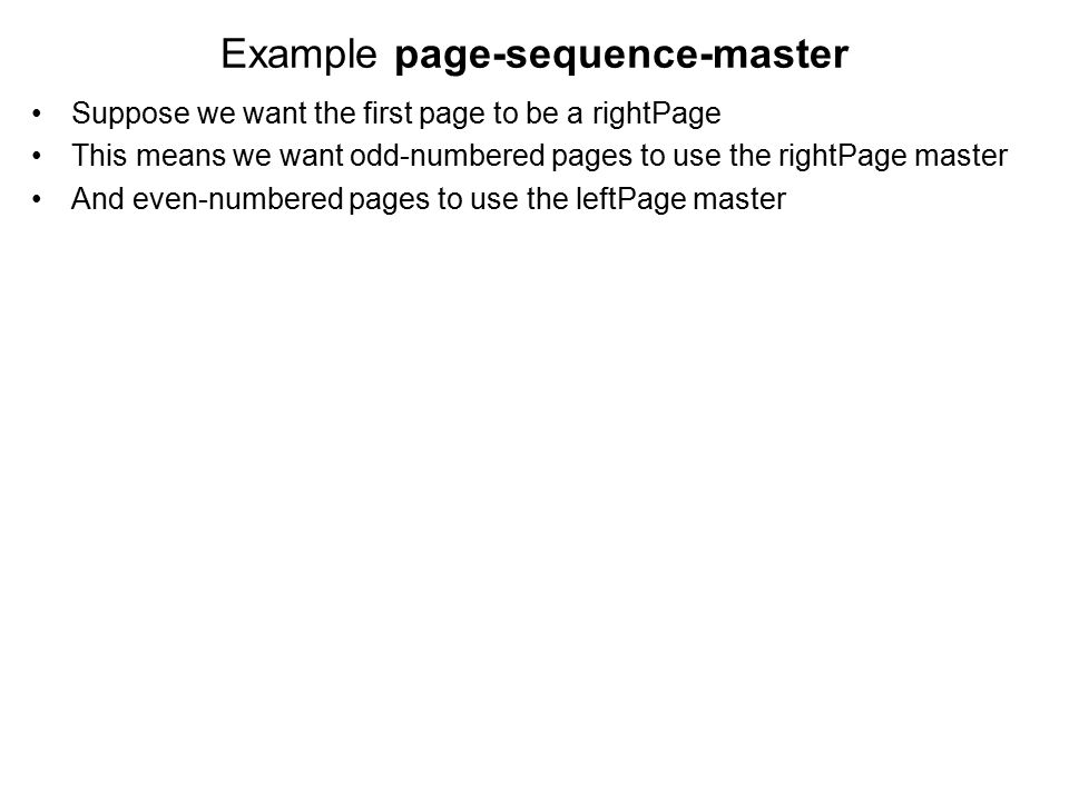 Example page-sequence-master