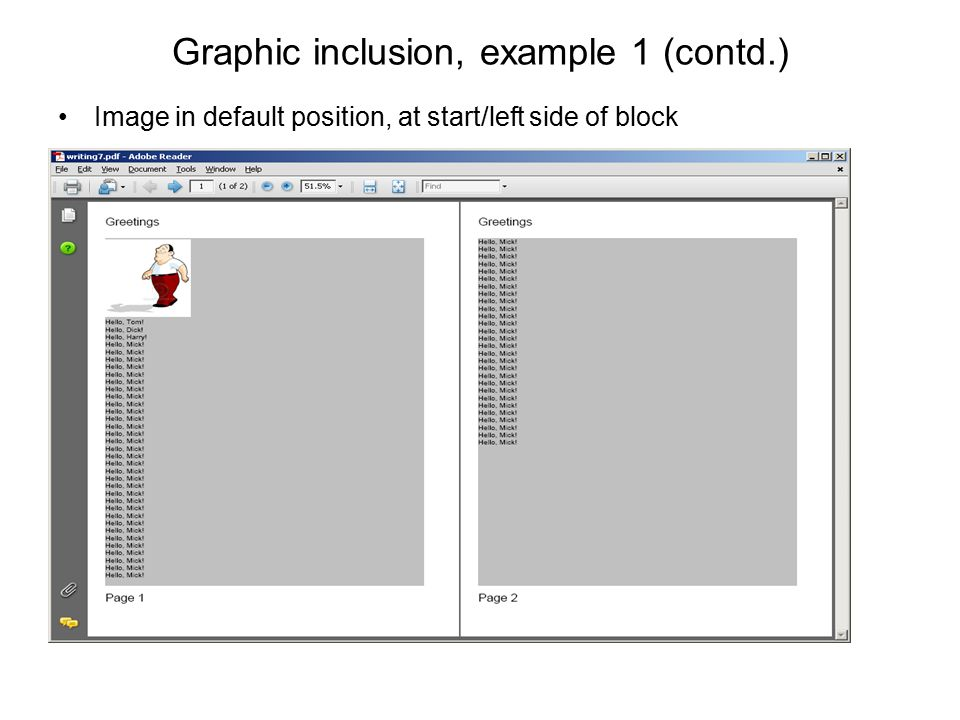 Graphic inclusion, example 1 (contd.)