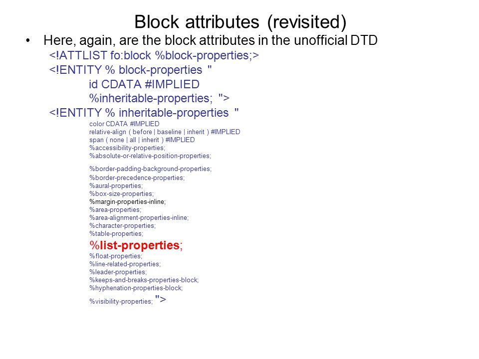 Block attributes (revisited)
