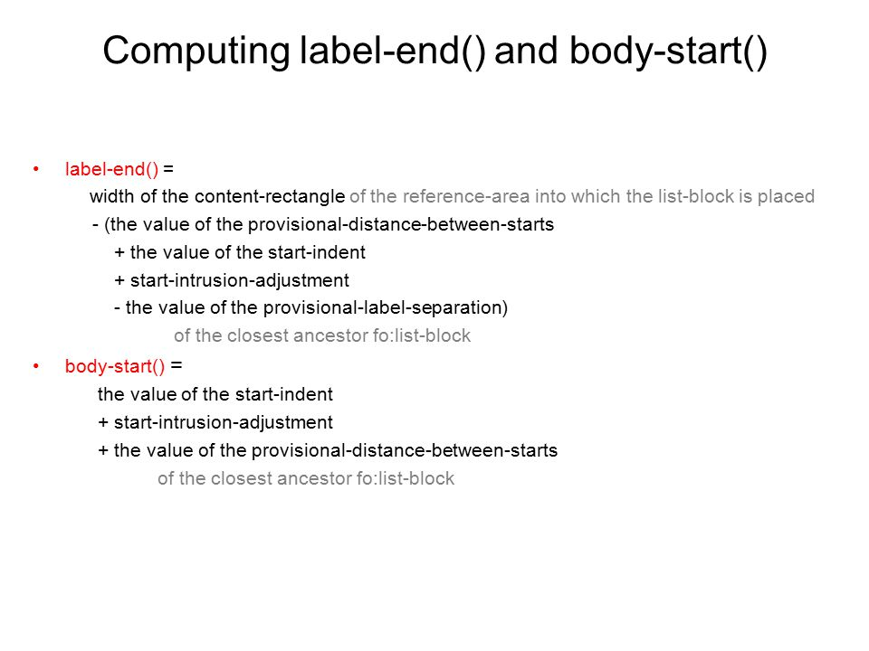 Computing label-end() and body-start()