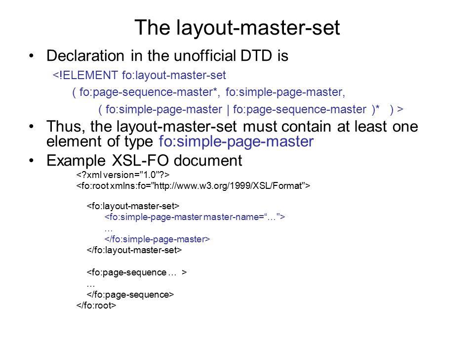 The layout-master-set