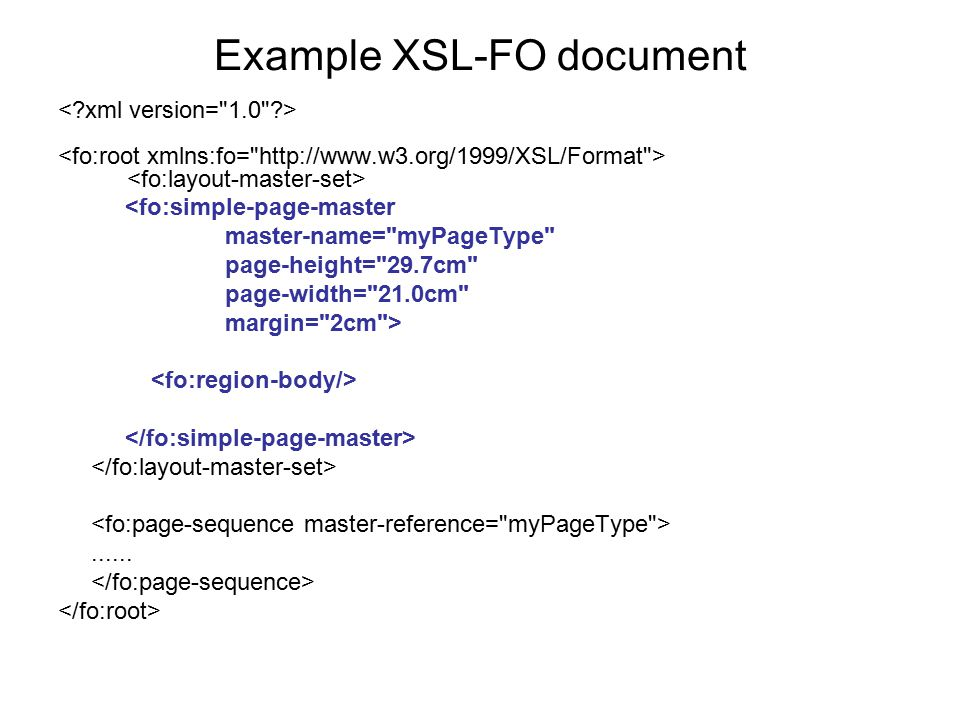 Example XSL-FO document