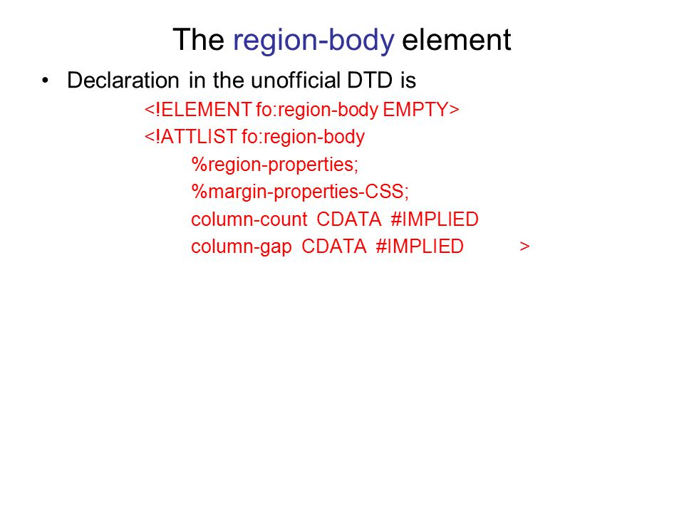 The region-body element