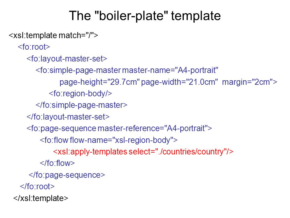 The boiler-plate template