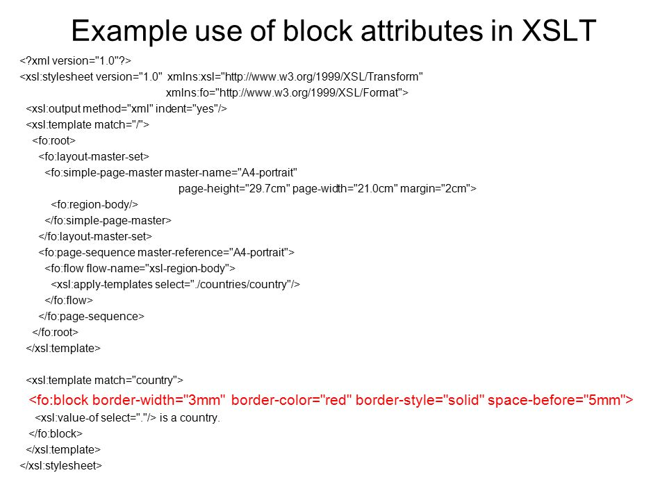 XSL Formatting Objects - ppt download