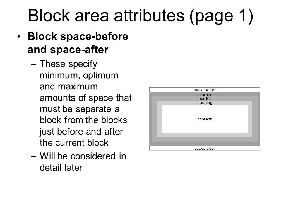 Block area attributes (page 1)