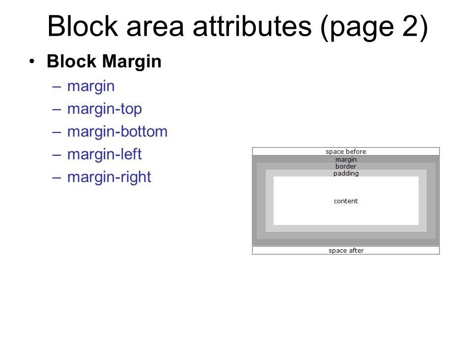 Block area attributes (page 2)