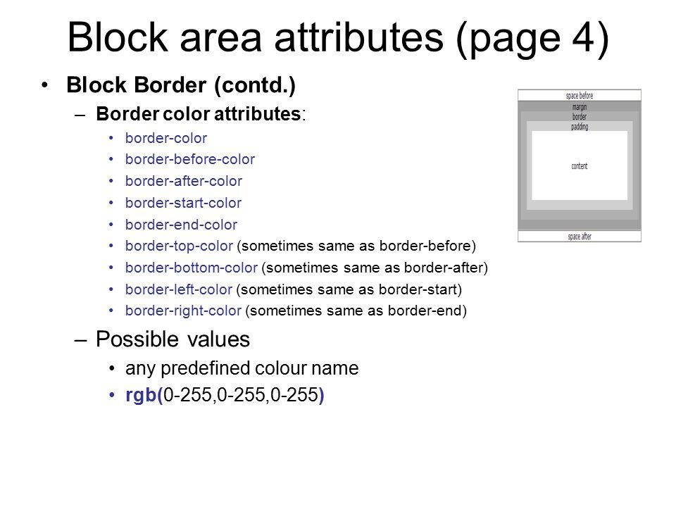 Block area attributes (page 4)