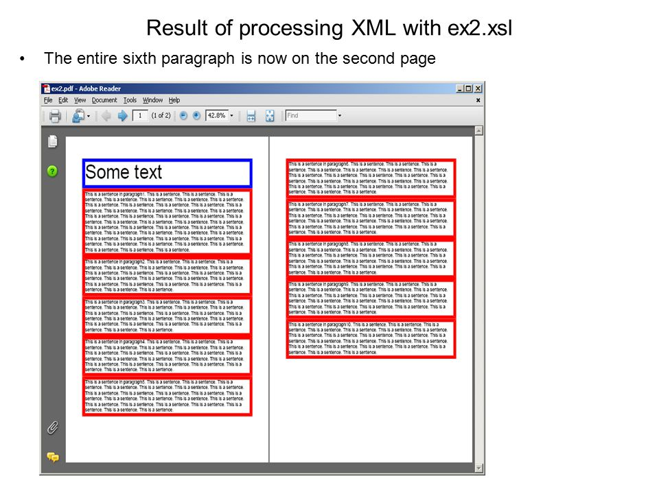 Result of processing XML with ex2.xsl