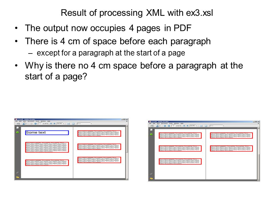 Result of processing XML with ex3.xsl