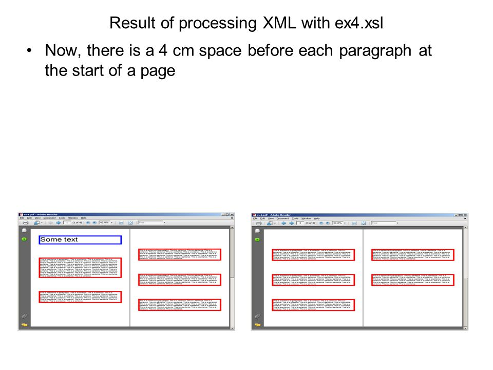Result of processing XML with ex4.xsl