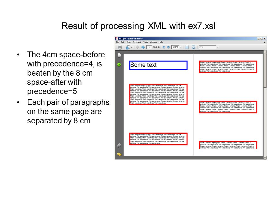 Result of processing XML with ex7.xsl