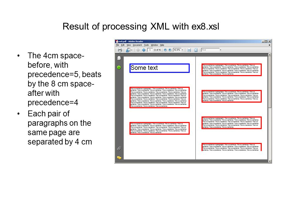 Result of processing XML with ex8.xsl