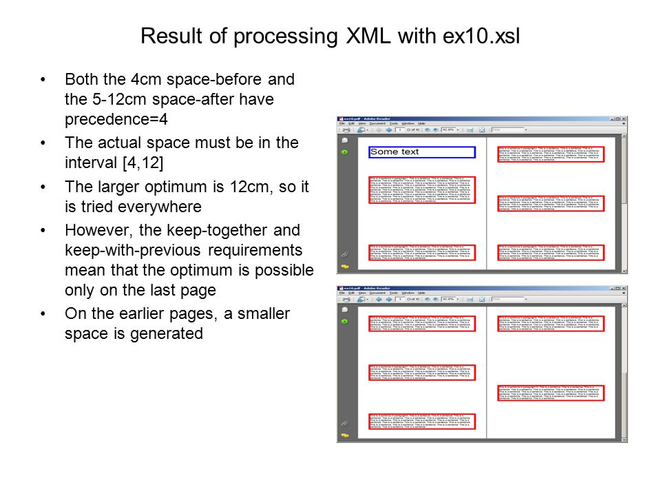 Result of processing XML with ex10.xsl
