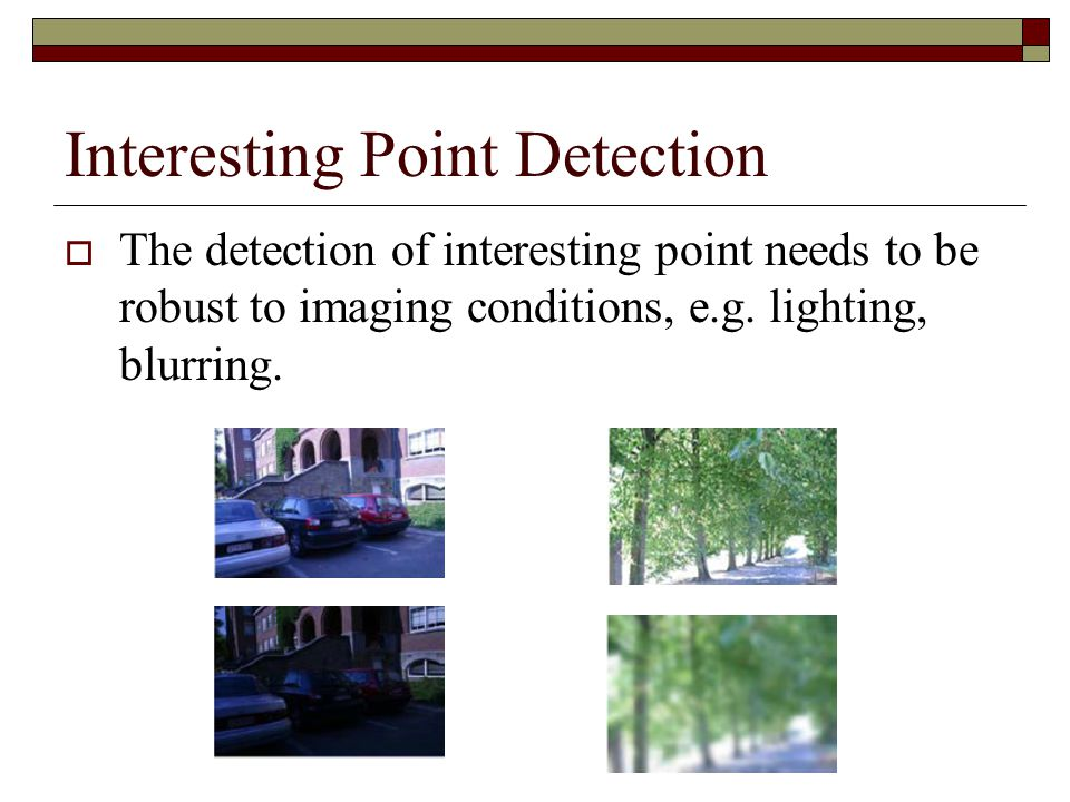 Interesting Point Detection