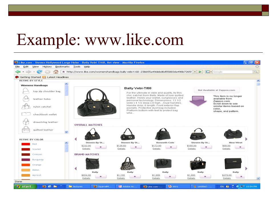 Example: www.like.com