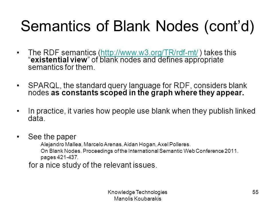 Semantics of Blank Nodes (cont'd)