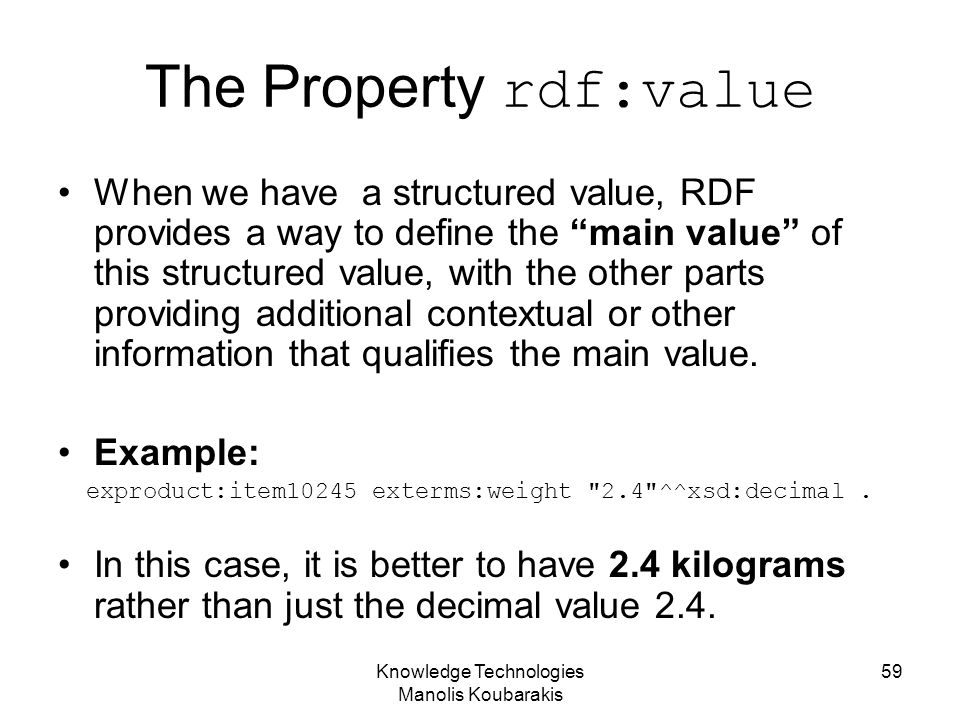 The Property rdf:value