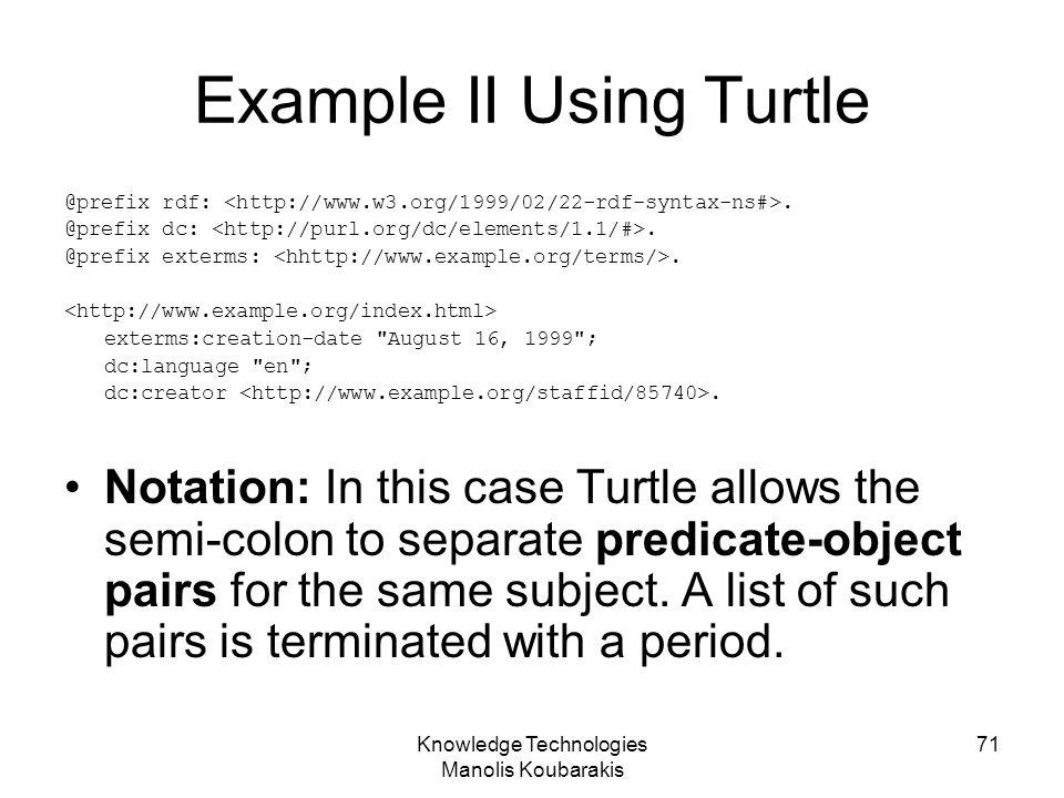 Example II Using Turtle