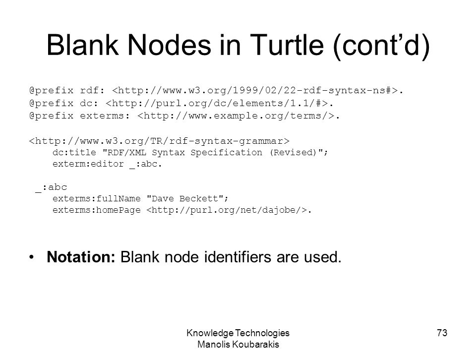 Blank Nodes in Turtle (cont'd)