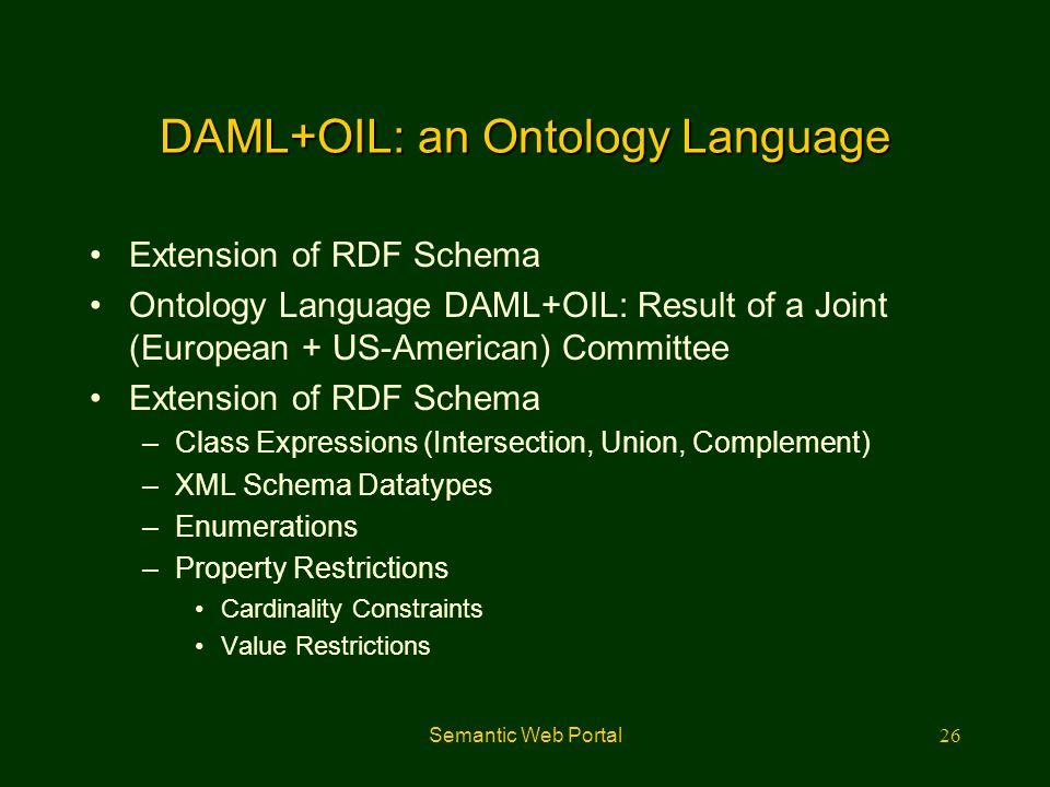 DAML+OIL: an Ontology Language