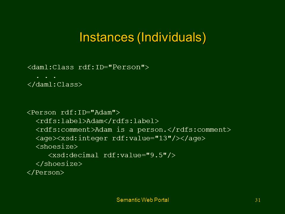 Instances (Individuals)
