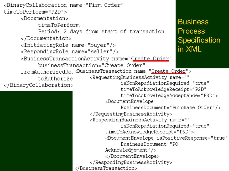 Business Process Specification in XML Semantic Web Portal