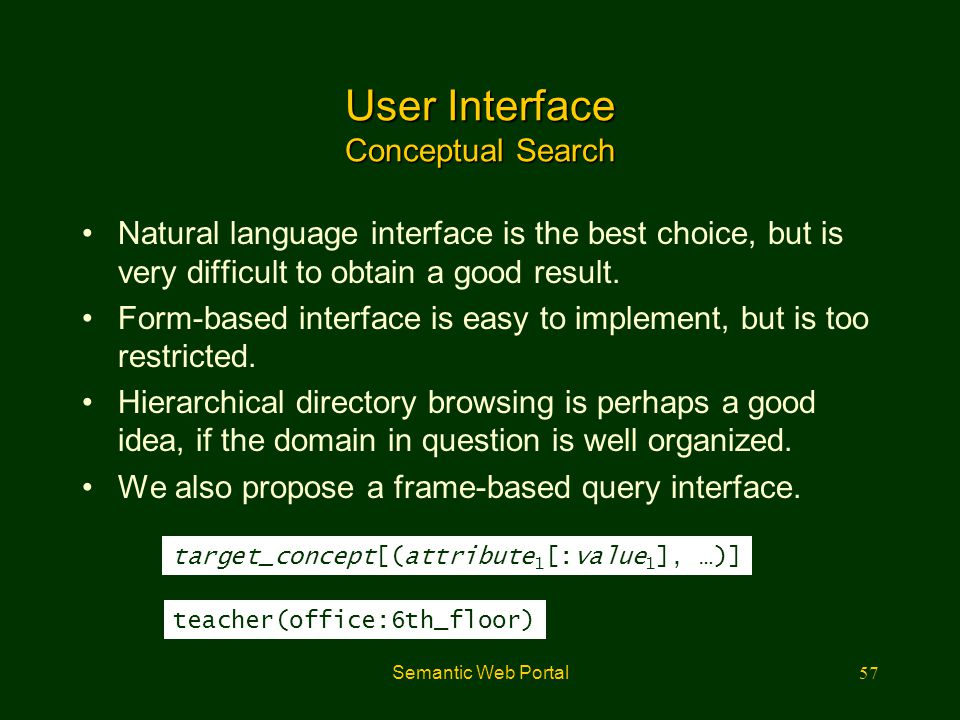 User Interface Conceptual Search
