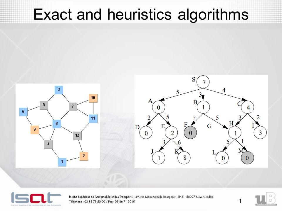 Exact and heuristics algorithms