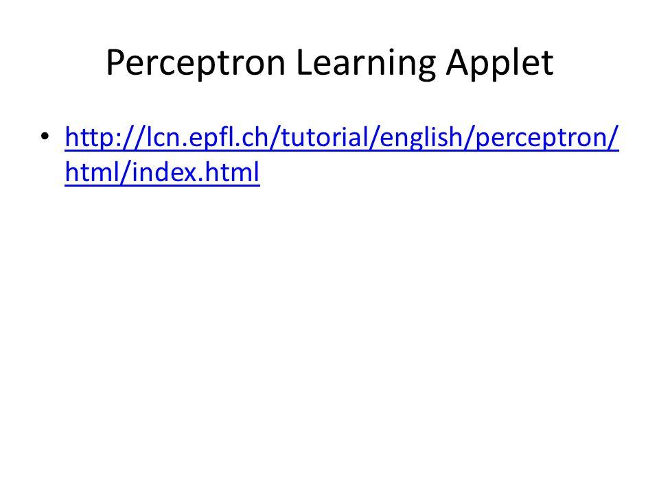 Perceptron Learning Applet