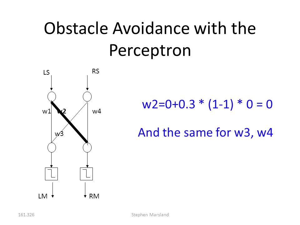 Obstacle Avoidance with the Perceptron