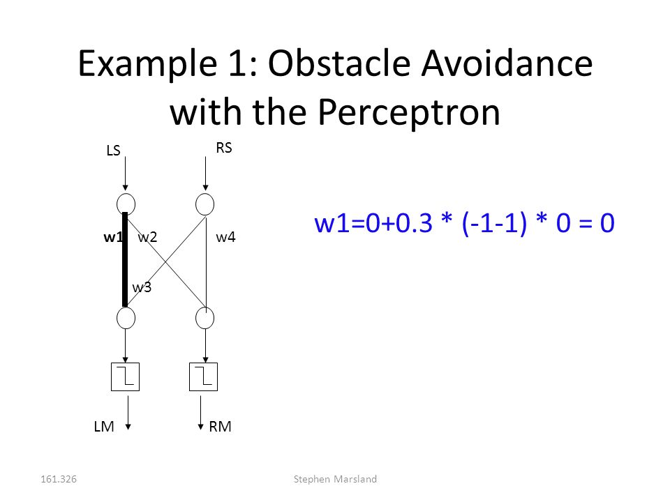 Example 1: Obstacle Avoidance with the Perceptron