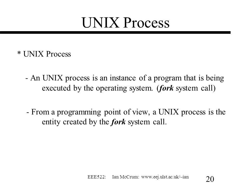 UNIX Process * UNIX Process