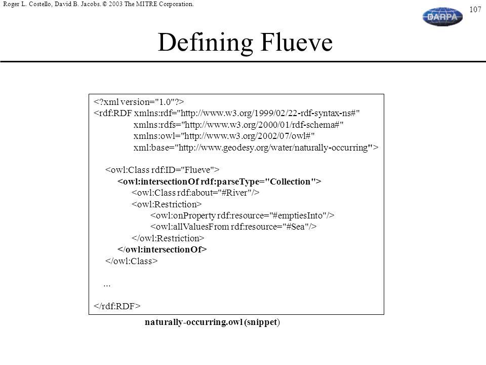 Defining Flueve < xml version= 1.0 >