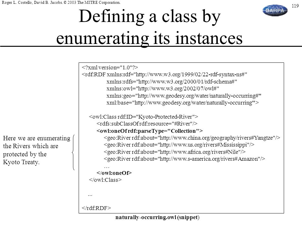 Defining a class by enumerating its instances