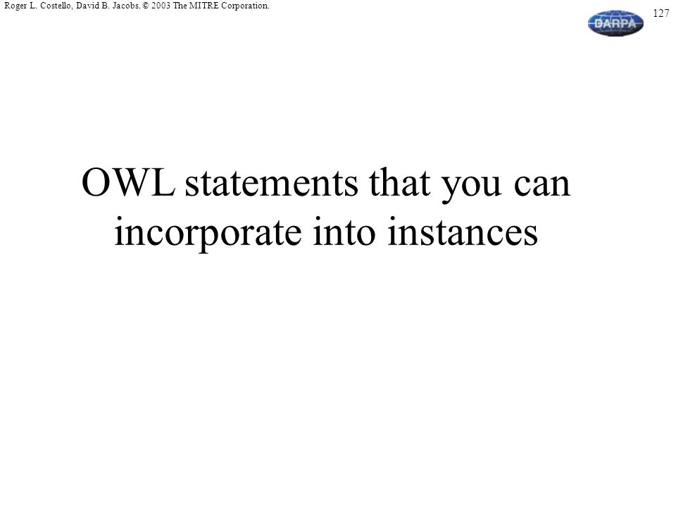 OWL statements that you can incorporate into instances
