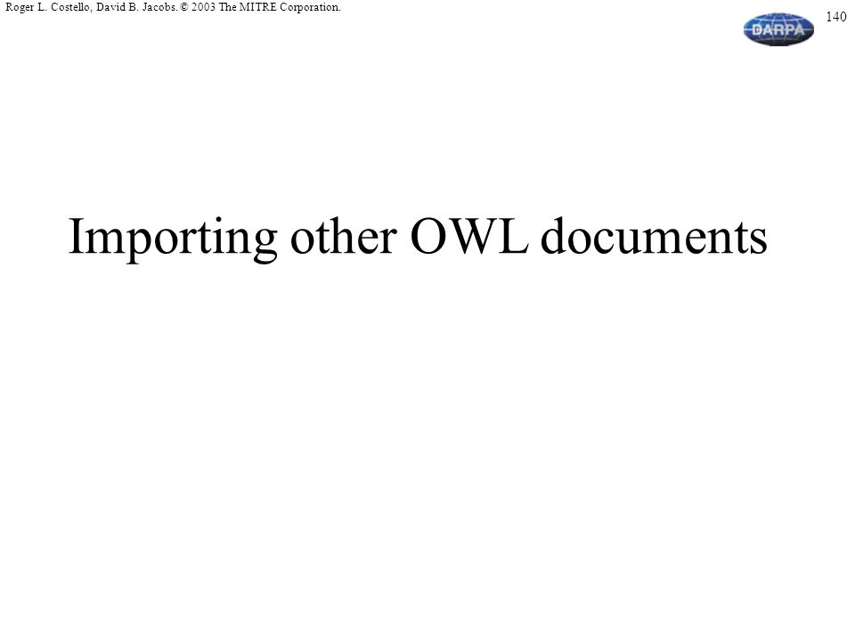 Importing other OWL documents