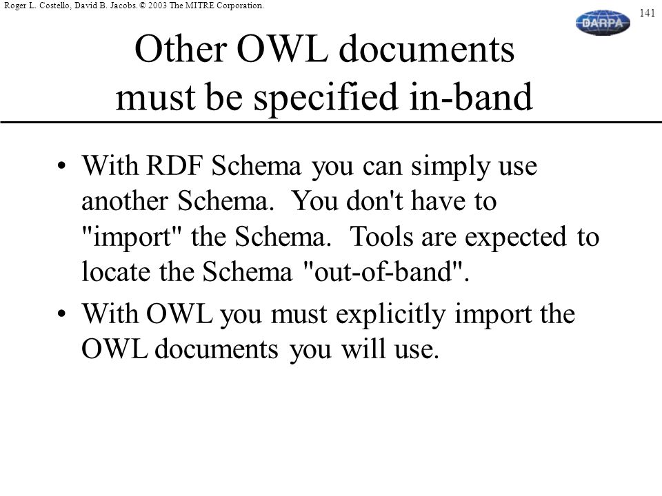 Other OWL documents must be specified in-band