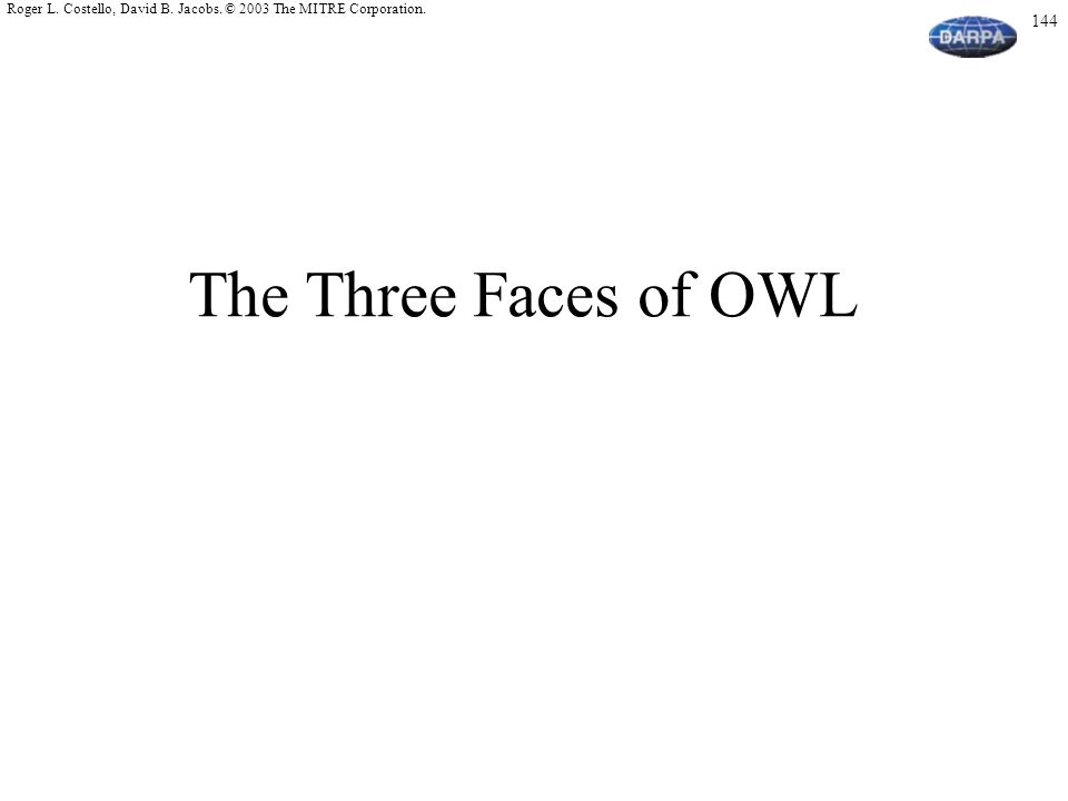 The Three Faces of OWL