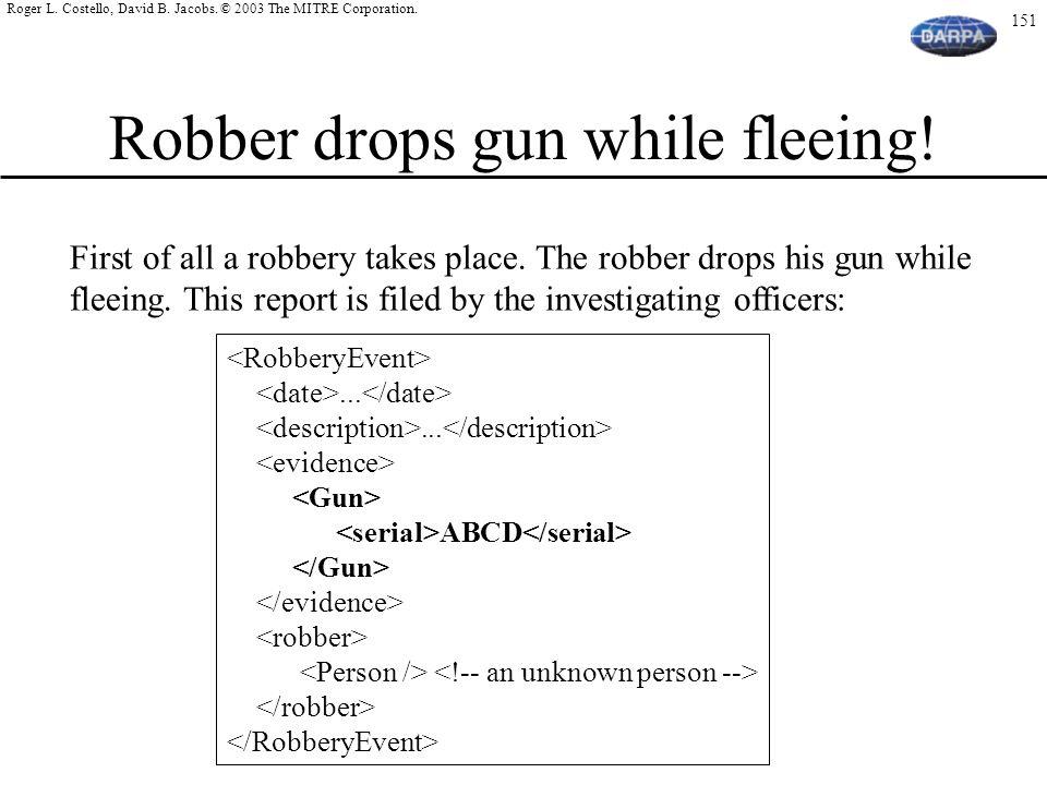Robber drops gun while fleeing!