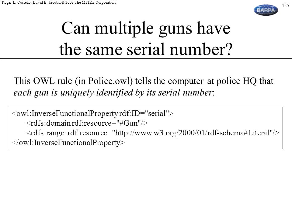 Can multiple guns have the same serial number