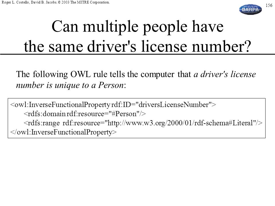 Can multiple people have the same driver s license number
